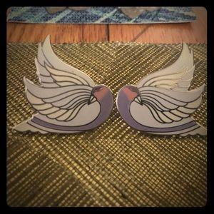 Laurel Burch Celan Bird Stud Earrings